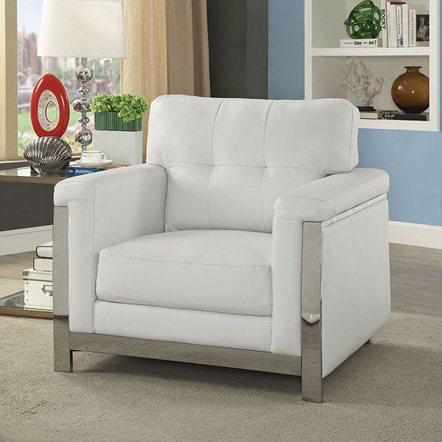 Camereon Modern Leather Living Room Chair Collection