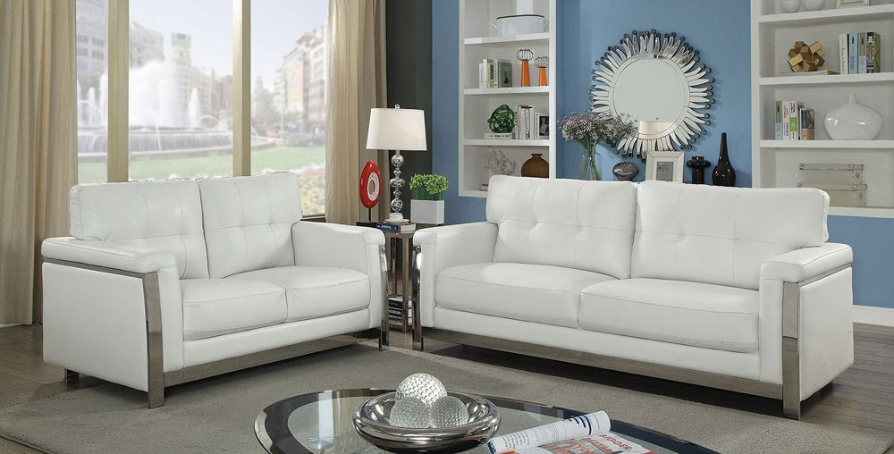 Camereon Modern Leather Living Room Sofa Collection ...